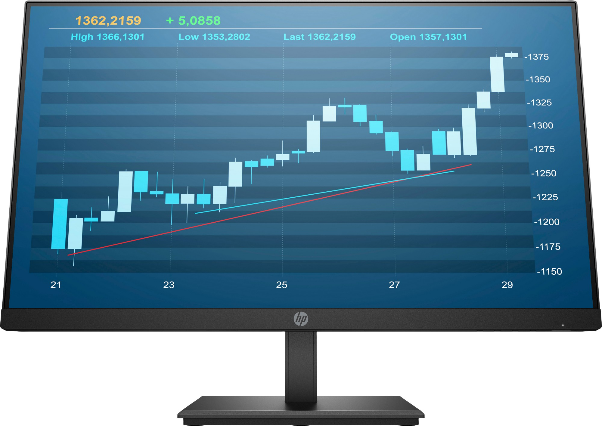 HP P244 LED display 23.8Inch Full HD Flat Black