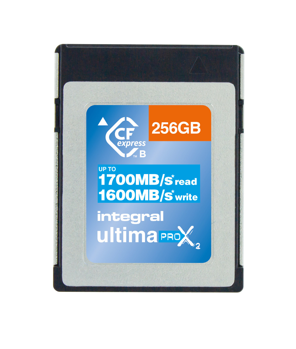 Integral INCFE256G1700/1600 256GB CFEXPRESS CARD TYPE B 2.0 UP TO 1700MBS READ 1600MBS WRITE memory card