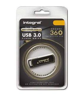 Integral INFD128GB360SEC3.0 USB flash drive 128 GB USB Type-A 3.2 Gen 1 (3.1 Gen 1) Black,Gold
