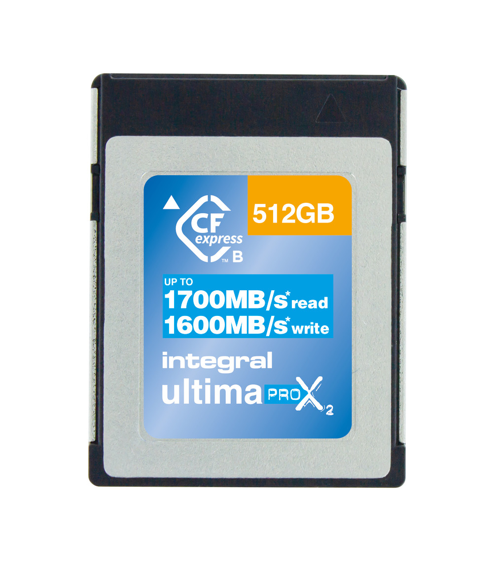 Integral INCFE512G1700/1600 512GB CFEXPRESS CARD TYPE B 2.0 UP TO 1700MBS READ 1600MBS WRITE memory card