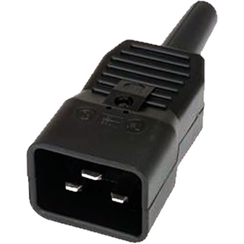 Cablenet 42 0503 electrical power plug C20 3P Black