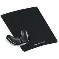 FELLOWES 9180701 HEALTH-V CRYSTAL GLIDING PALM SUPPORT BLACK
