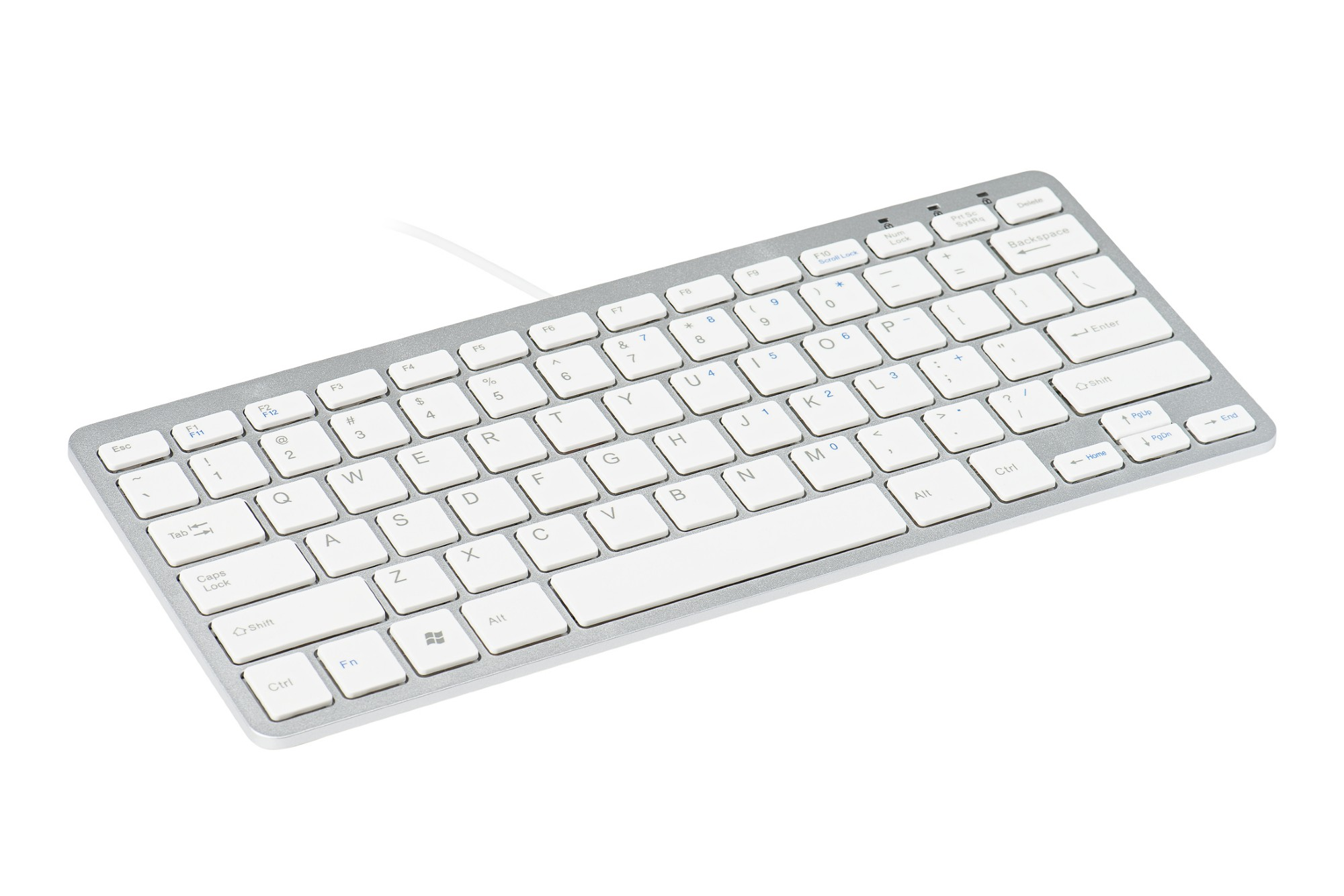 R-GO TOOLS RGOECUKW COMPACT KEYBOARD, QWERTY (UK), WHITE, WIRED