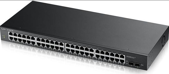 ZYXEL GS1900-48-GB0101F GS1900-48 MANAGED NETWORK SWITCH L2 GIGABIT ETHERNET (10/100/1000) 1U BLACK