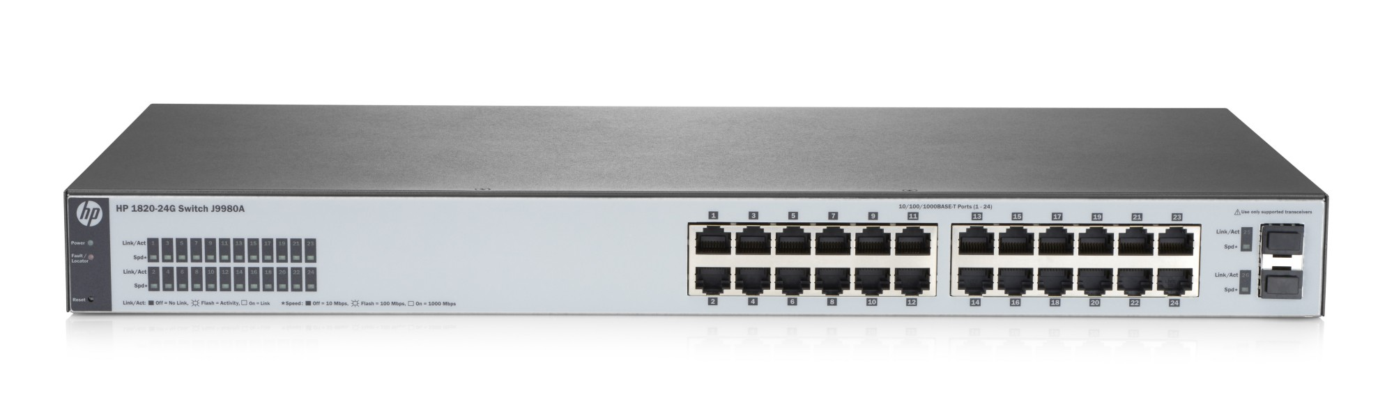 HPE J9980A 1820-24G MANAGED NETWORK SWITCH L2 GIGABIT ETHERNET (10/100/1000) 1U GREY