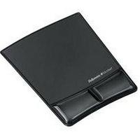 FELLOWES 9181201 HEALTH-V FABRIK MOUSE PAD/WRIST SUPPORT BLACK