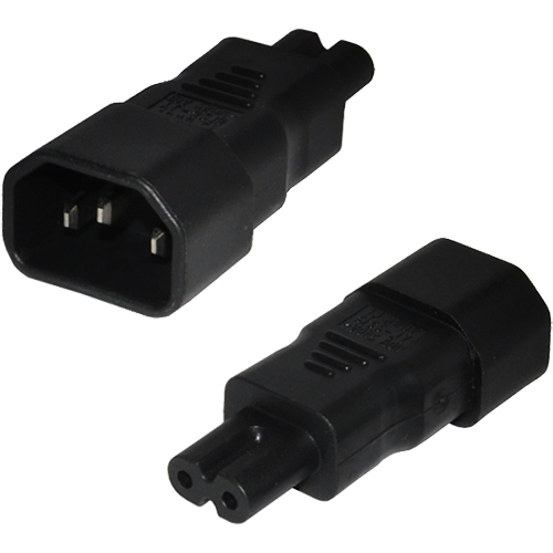 CABLENET PW-2950 C14 C7 BLACK POWER PLUG ADAPTER