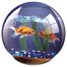 FELLOWES 5881103 ROUND BRITE MAT GOLDFISH BOWL