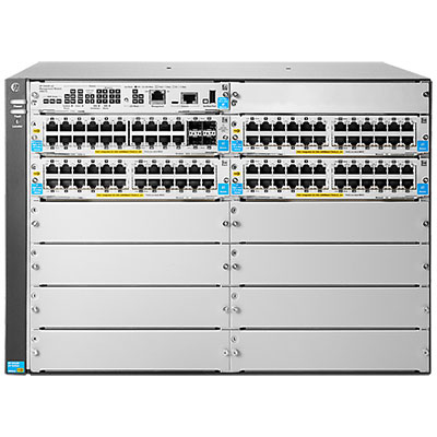 HPE J9826A 5412R-92G-POE+/4SFP V2 ZL2 MANAGED NETWORK SWITCH GIGABIT ETHERNET (10/100/1000) POWER OVER (POE) GREY
