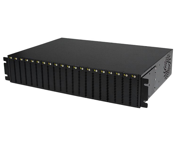 STARTECH ETCHS2U 20-SLOT 2U RACK MOUNT MEDIA CONVERTER CHASSIS FOR ET SERIES 2 FIBER