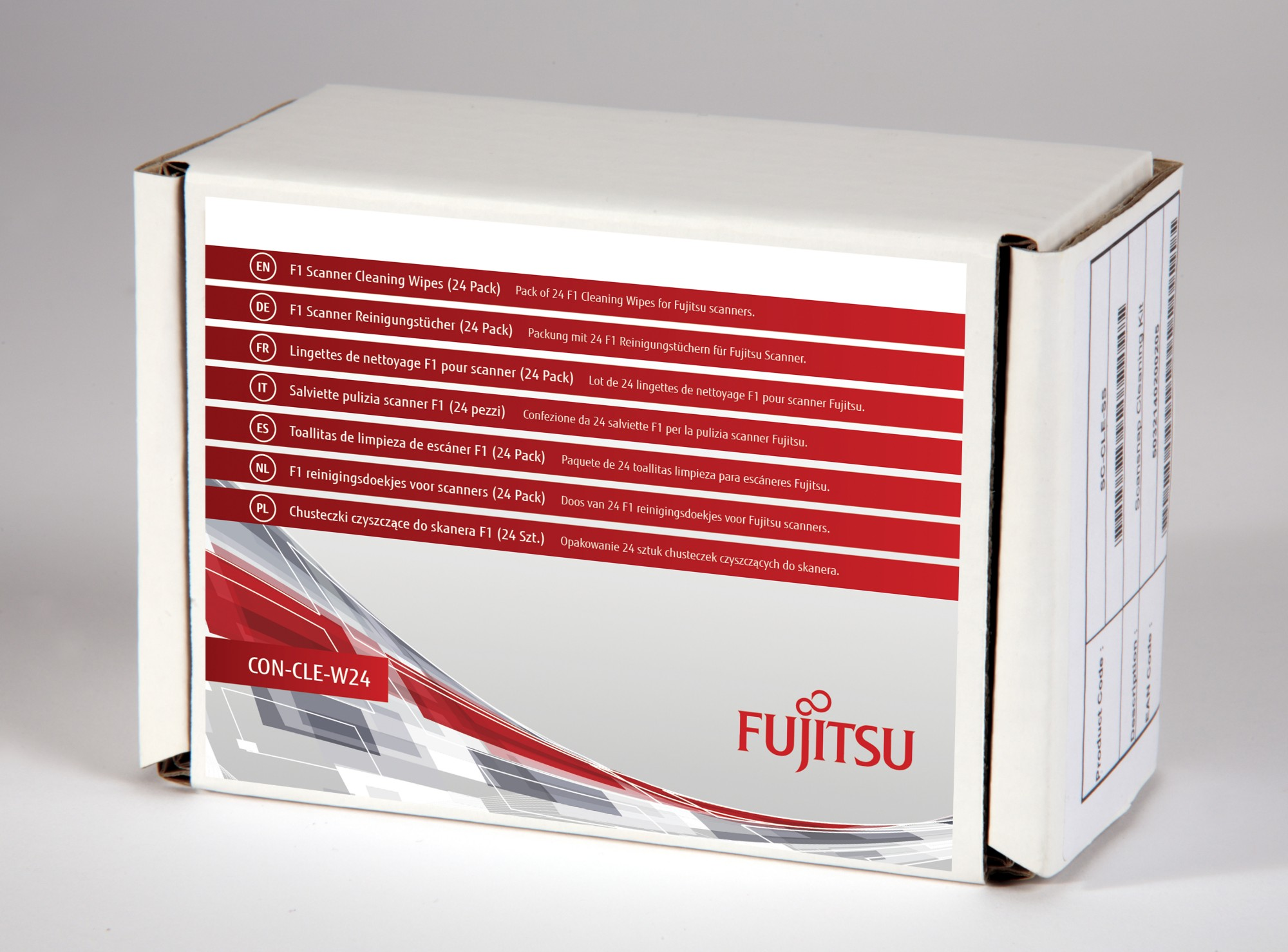 FUJITSU CON-CLE-W24 F1 SCANNER CLEANING WIPES (24 PACK)