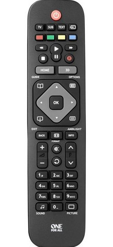 ONE FOR ALL URC1913 URC 1913 REMOTE CONTROL IR WIRELESS BLACK,GREY PRESS BUTTONS