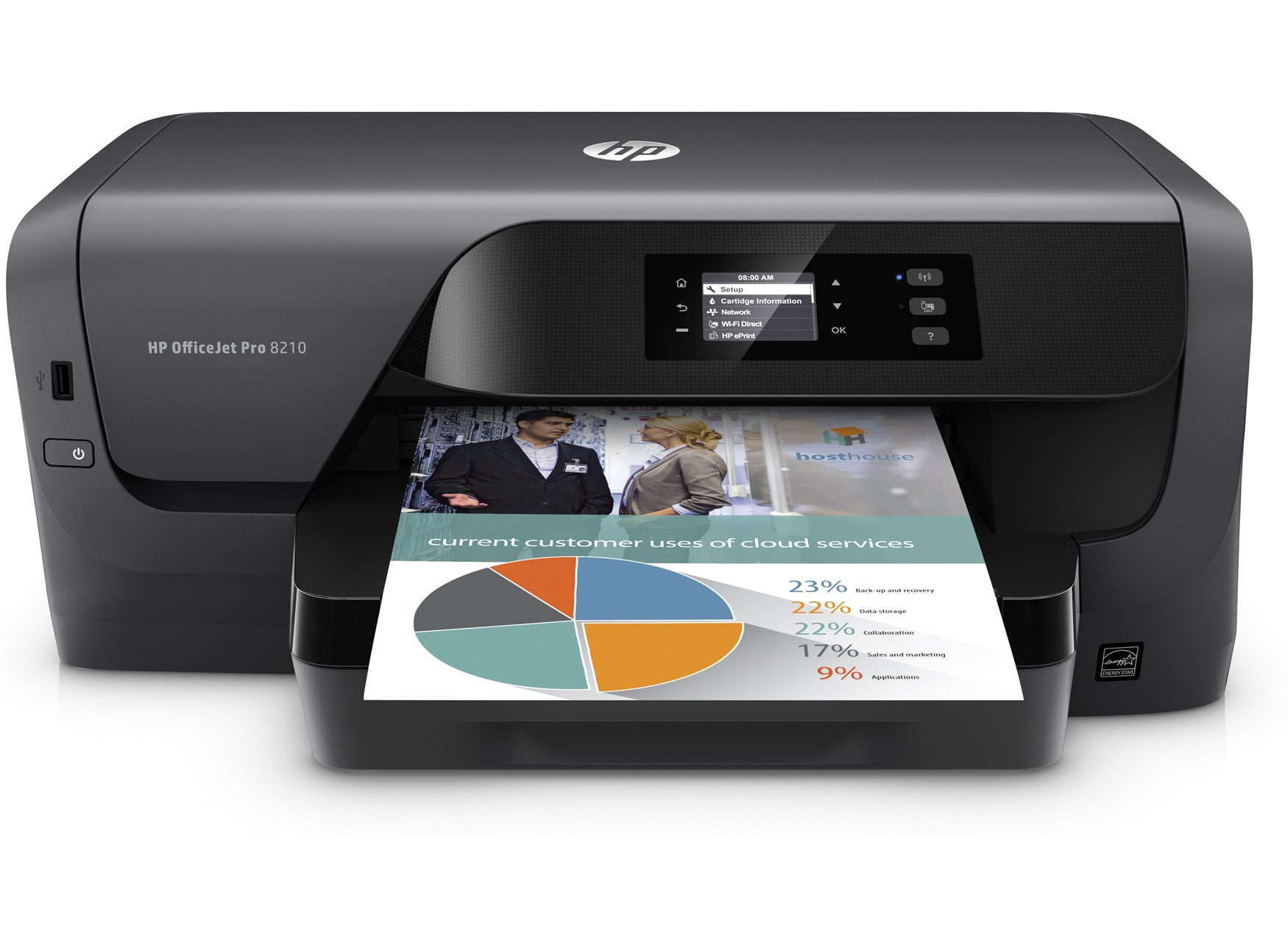 HP D9L63A#A81 OFFICEJET PRO 8210 COLOUR 2400 X 1200DPI A4 WI-FI INKJET PRINTER