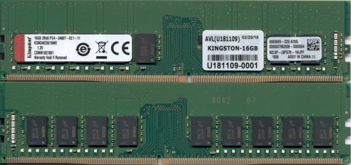 KINGSTON 16GB DDR4-2400MHZ ECC CL17