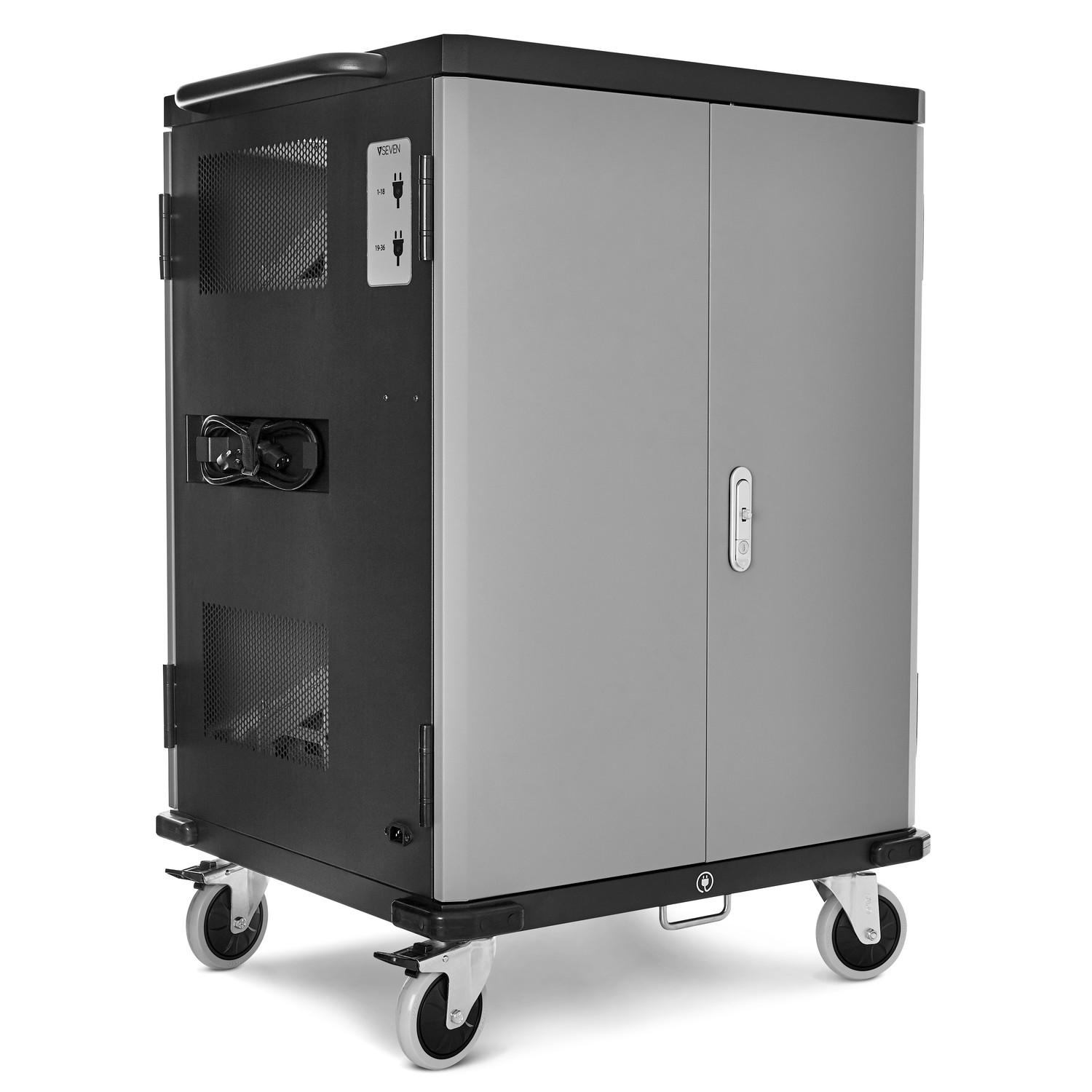 V7 CHGCT36-1E CHARGE CART - 36 DEVICES SCHUKO POWER