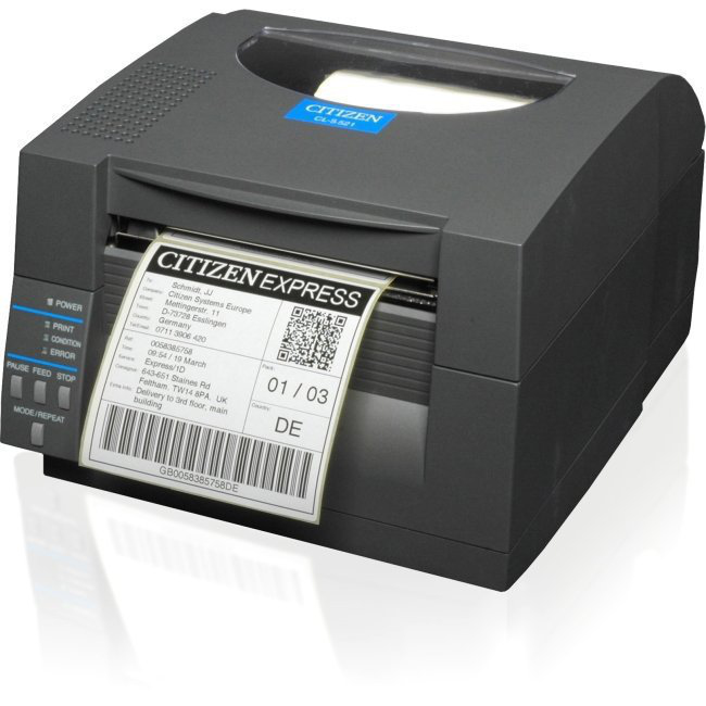 CITIZEN 1000815 CL-S521 DIRECT THERMAL 203DPI LABEL PRINTER