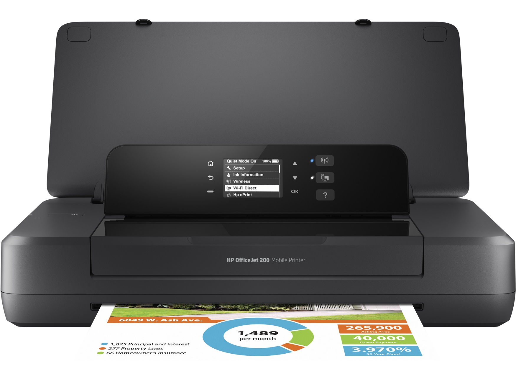 HP CZ993A#BHC OFFICEJET 200 MOBILE COLOUR 4800 X 1200DPI A4 WI-FI INKJET PRINTER