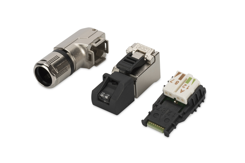 DIGITUS A-MFP6A 8-8 TG-AN RJ-45 BLACK, SILVER WIRE CONNECTOR