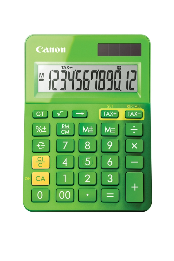 CANON 9490B002AA LS-123K CALCULATOR DESKTOP BASIC GREEN