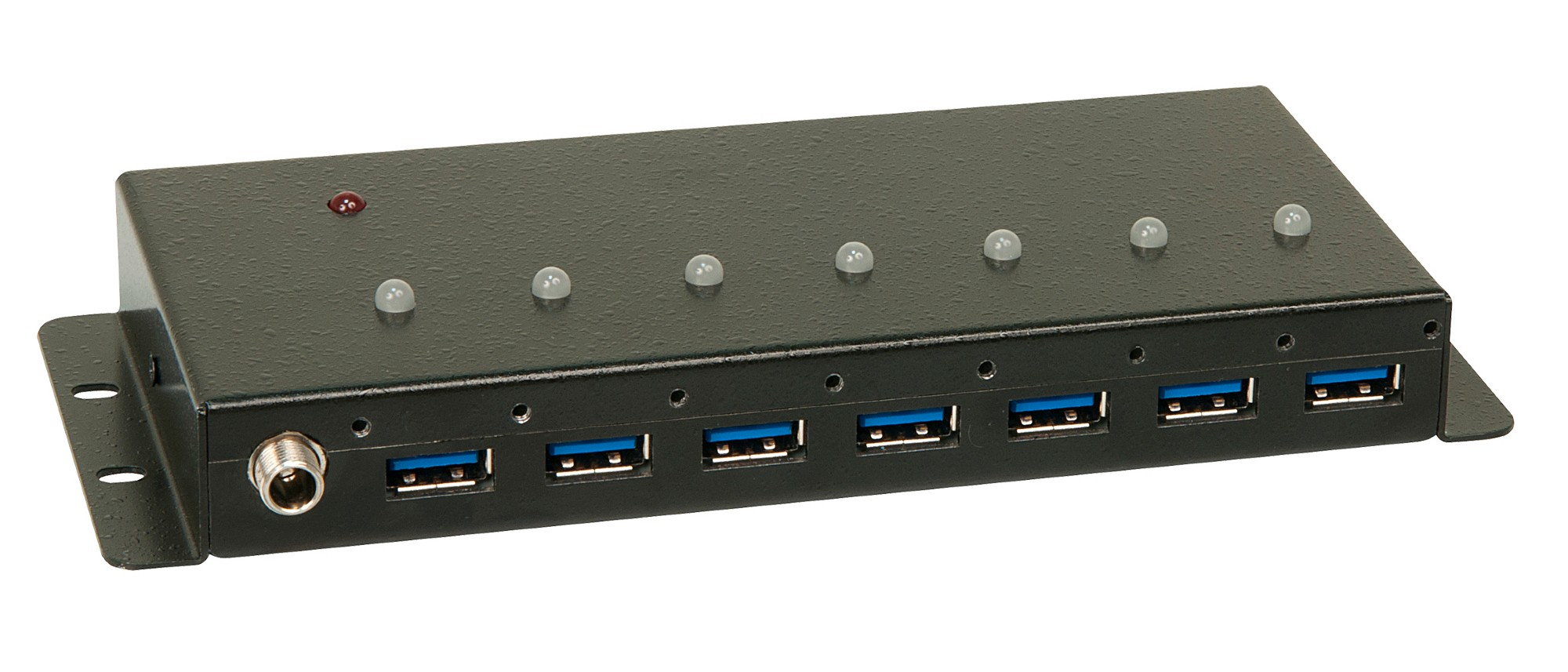 LINDY 43128 USB 3.0 7 PORT 5000MBIT/S BLACK INTERFACE HUB