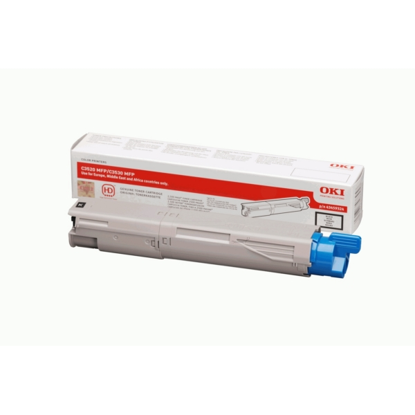 OKI 43459324 TONER BLACK, 2.5K PAGES @ 5% COVERAGE