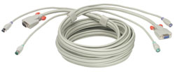 LINDY 33732 2M KVM CABLE GREY