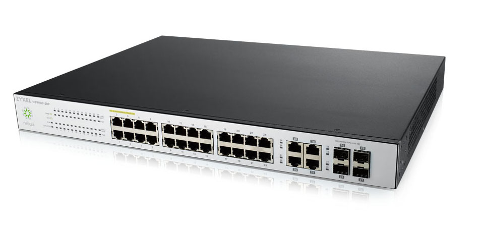 ZYXEL NSW100-28P-EU0101F NSW100-28P MANAGED NETWORK SWITCH L2 GIGABIT ETHERNET (10/100/1000) POWER OVER (POE) BLACK, GREY