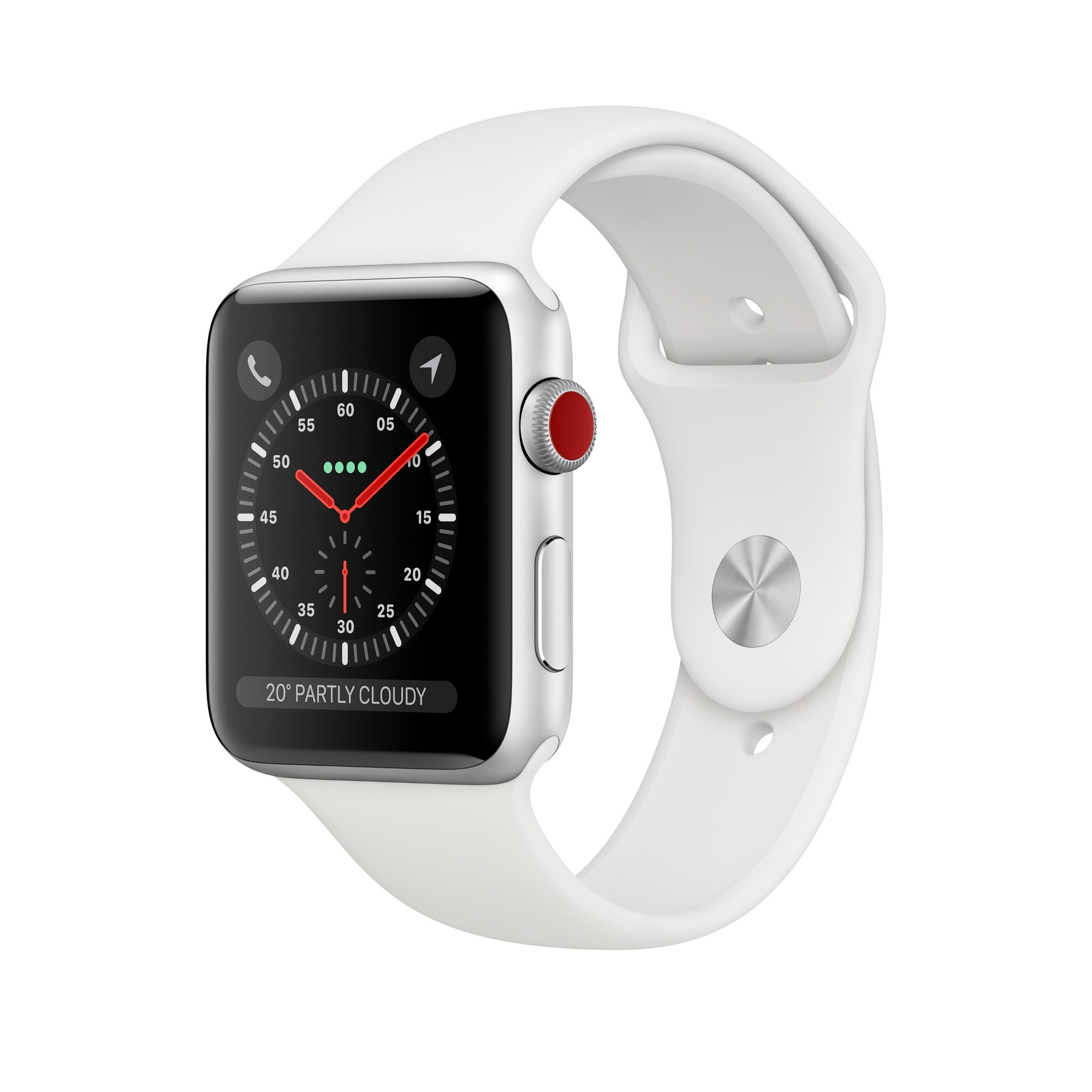 APPLE MTH12B/A WATCH SERIES 3 SMARTWATCH SILVER OLED CELLULAR GPS (SATELLITE)