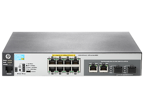 HPE JL070A#ABB ARUBA 2530 8 POE+ INTERNAL PS MANAGED NETWORK SWITCH L2 FAST ETHERNET (10/100) POWER OVER (POE) 1U GREY