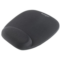 KENSINGTON 62384 FOAM MOUSEPAD WITH INTEGRAL WRIST REST BLACK