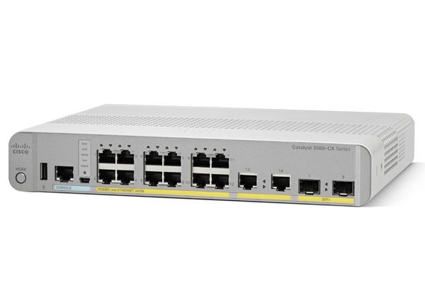 CISCO WS-C3560CX-8PT-S NETWORK SWITCH MANAGED GIGABIT ETHERNET (10/100/1000) WHITE POWER OVER (POE)