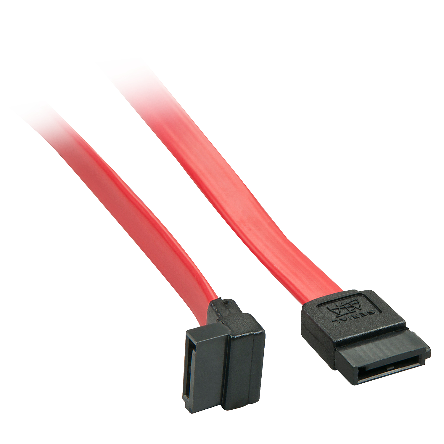LINDY 33351 SATA CABLE 0.5 M BLACK, RED 7-PIN