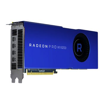 AMD 100-505956 RADEON PRO WX 8200 - 8GB GDDR5, PCI-E X16, FOUR X MINI DP 1.4 OUTPUTS