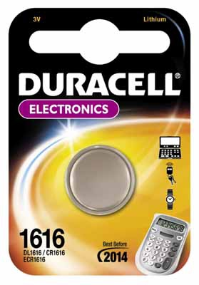 DURACELL DL1616 LITHIUM 3V NON-RECHARGEABLE BATTERY