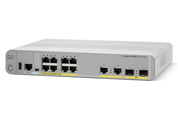 CISCO WS-C2960CX-8PC-L 2960-CX MANAGED L2 GIGABIT ETHERNET POWER OVER (POE) WHITE
