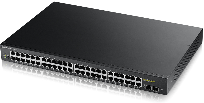 ZYXEL GS1900-48HP-GB0101F GS1900-48HP MANAGED NETWORK SWITCH L2 GIGABIT ETHERNET (10/100/1000) POWER OVER (POE) 1U BLACK