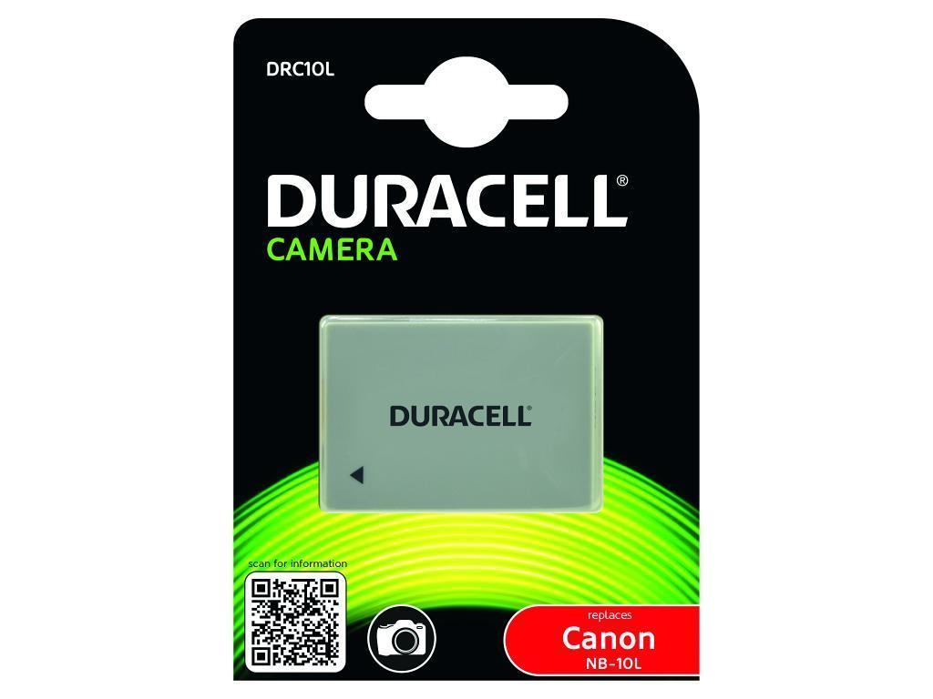 DURACELL DRC10L CAMERA BATTERY - REPLACES CANON NB-10L RECHARGEABLE