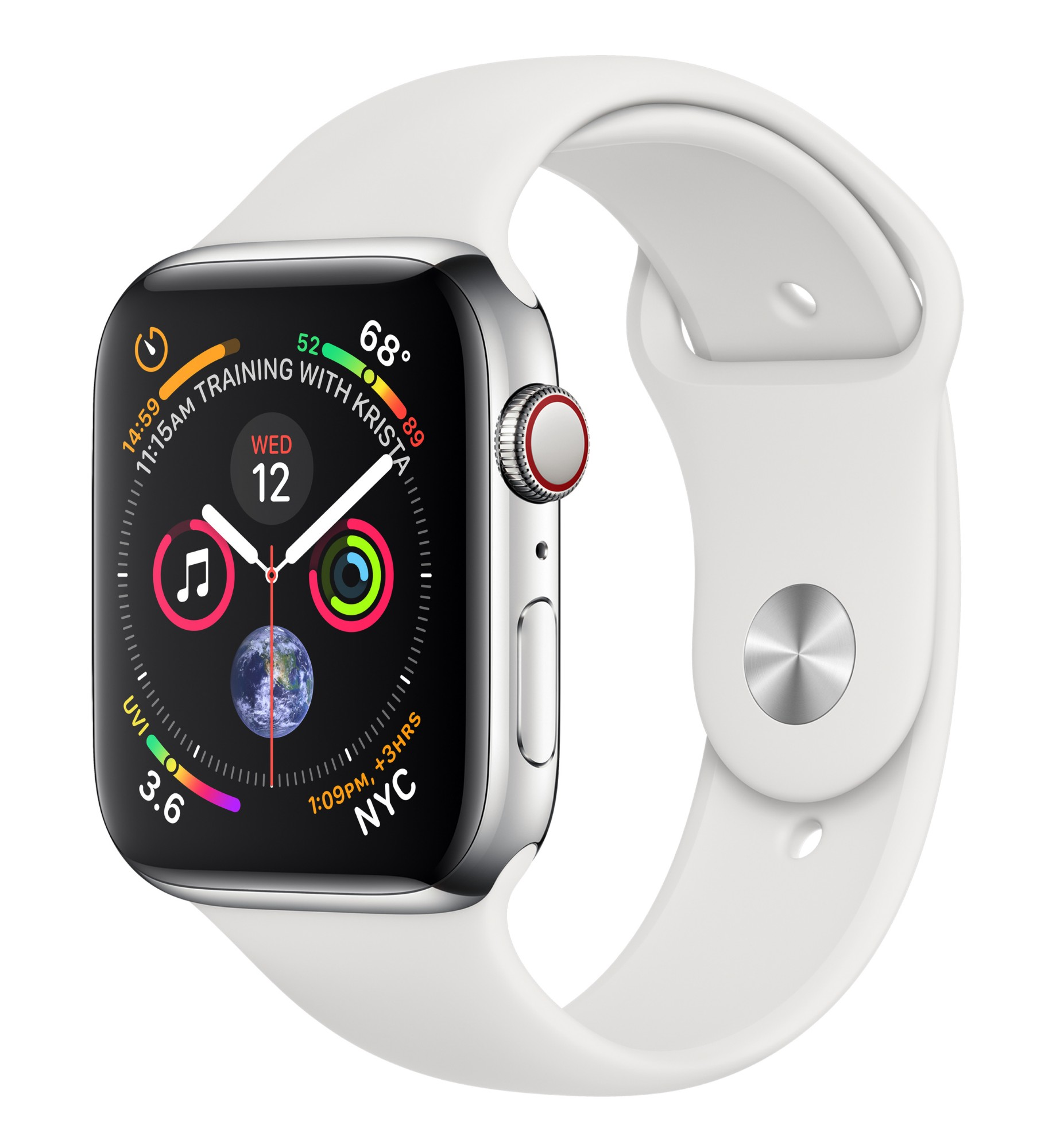 APPLE MTX02B/A WATCH SERIES 4 SMARTWATCH STAINLESS STEEL OLED CELLULAR GPS (SATELLITE)