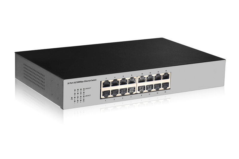 DIGITUS DN-60011-2 NETWORK SWITCH UNMANAGED FAST ETHERNET (10/100) BLACK, GREY