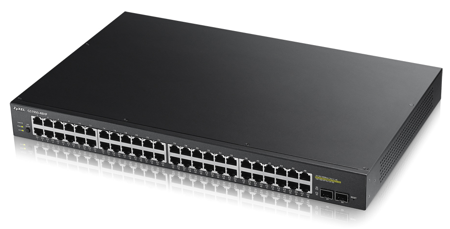 ZYXEL GS1900-48HP-EU0101F GS1900-48HP MANAGED NETWORK SWITCH L2 GIGABIT ETHERNET (10/100/1000) POWER OVER (POE) BLACK