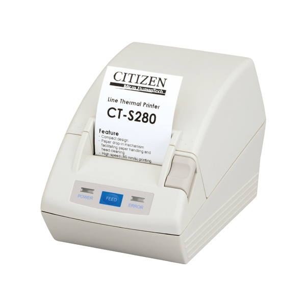 CITIZEN CTS280RSEWH CT-S280 THERMAL POS PRINTER 203 X 203DPI