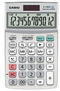 CASIO JF-120ECO JF-120 ECO DESKTOP DISPLAY CALCULATOR