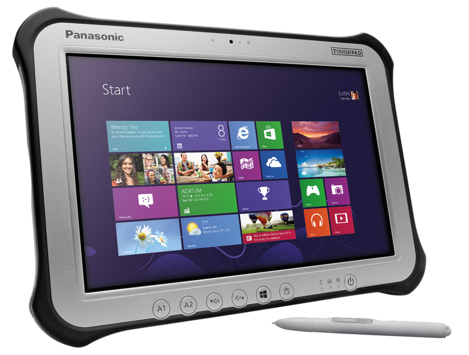 PANASONIC FZ-G1R0008TE TOUGHPAD FZ-G1 MK4 128GB BLACK, SILVER TABLET