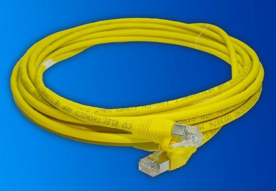AMP 1711078-5 5M CAT6 S/FTP (S-STP) YELLOW NETWORKING CABLE