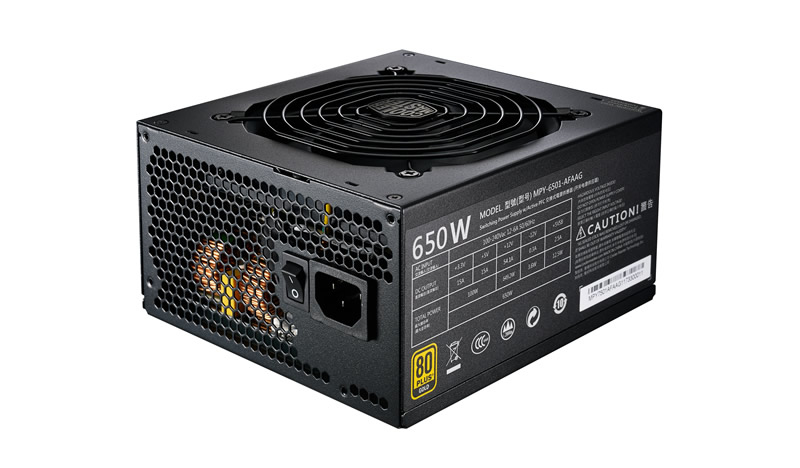 COOLER MASTER MPY-6501-AFAAG-UK MWE GOLD 650 FULL MODULAR POWER SUPPLY UNIT W ATX BLACK