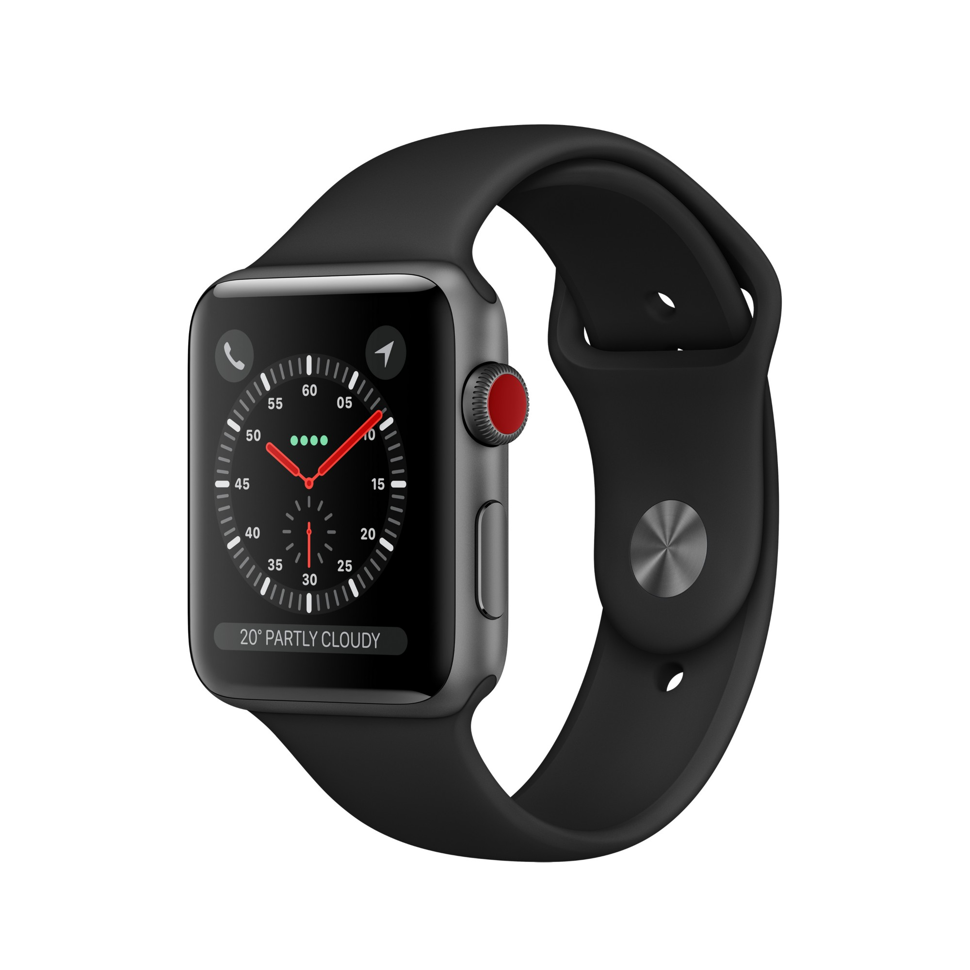 APPLE MTGP2B/A WATCH SERIES 3 SMARTWATCH GREY OLED CELLULAR GPS (SATELLITE)
