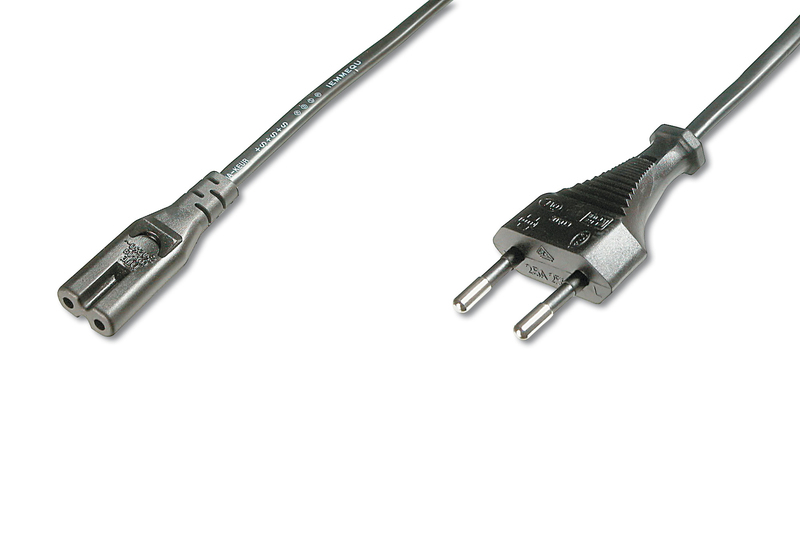 DIGITUS AK-440114-012-S 1.2M CEE7/16 C7 COUPLER BLACK POWER CABLE