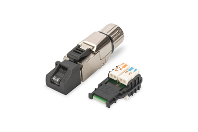 DIGITUS A-MFP6A 8-8 TG RJ-45 BLACK, METALLIC WIRE CONNECTOR