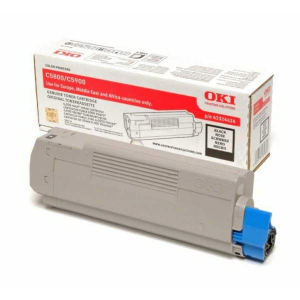 OKI 43324424 TONER BLACK, 6K PAGES @ 5% COVERAGE