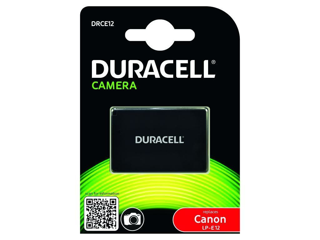 DURACELL DRCE12 CAMERA BATTERY - REPLACES CANON LP-E12 RECHARGEABLE